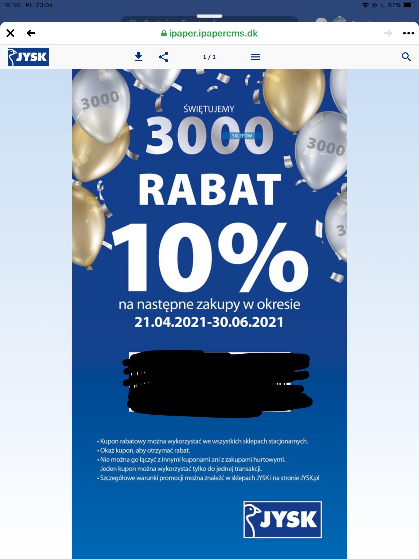 Rabat 10% za wypełnienie ankiety