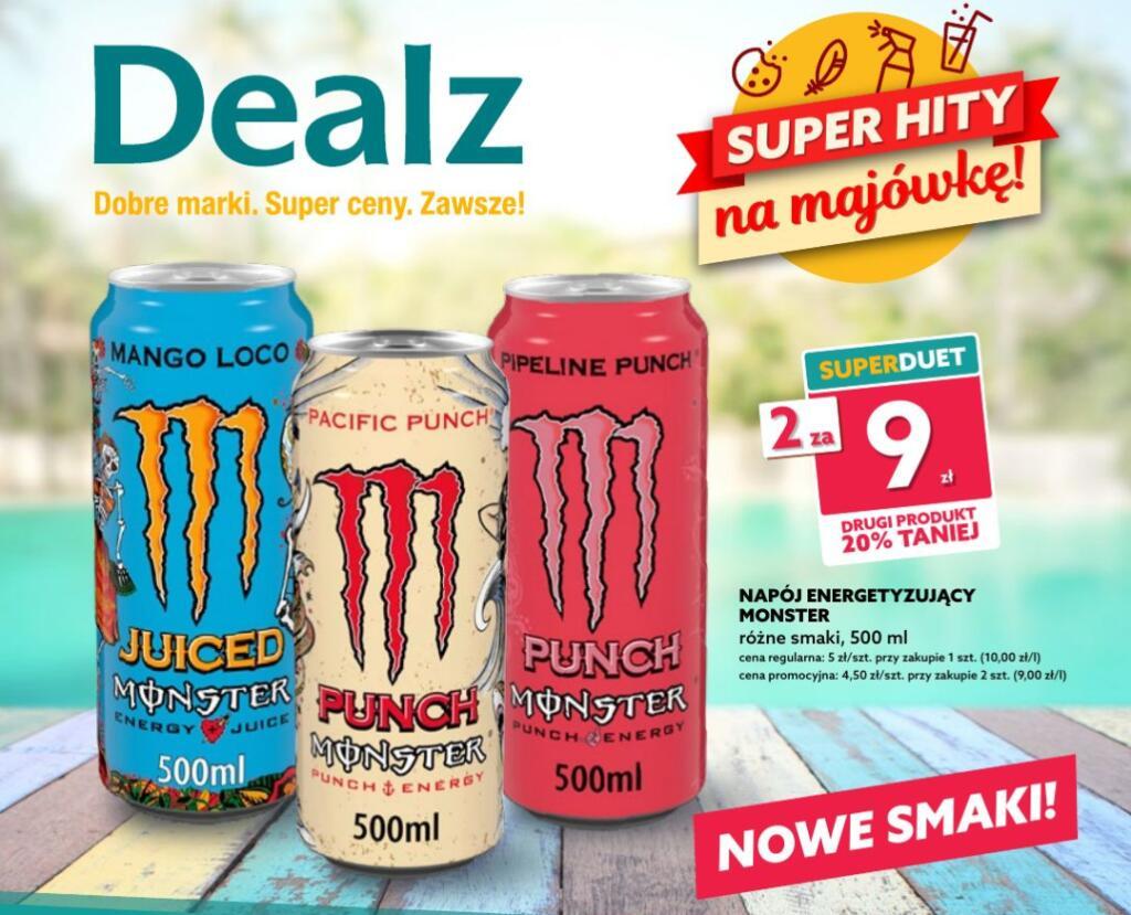Monster energy - Dealz (przy zakupie 2)