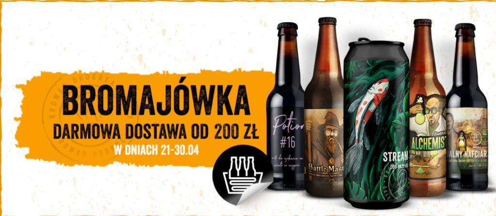 Darmowa dostawa w bromarket.pl przy zamówieniach od 200 zł