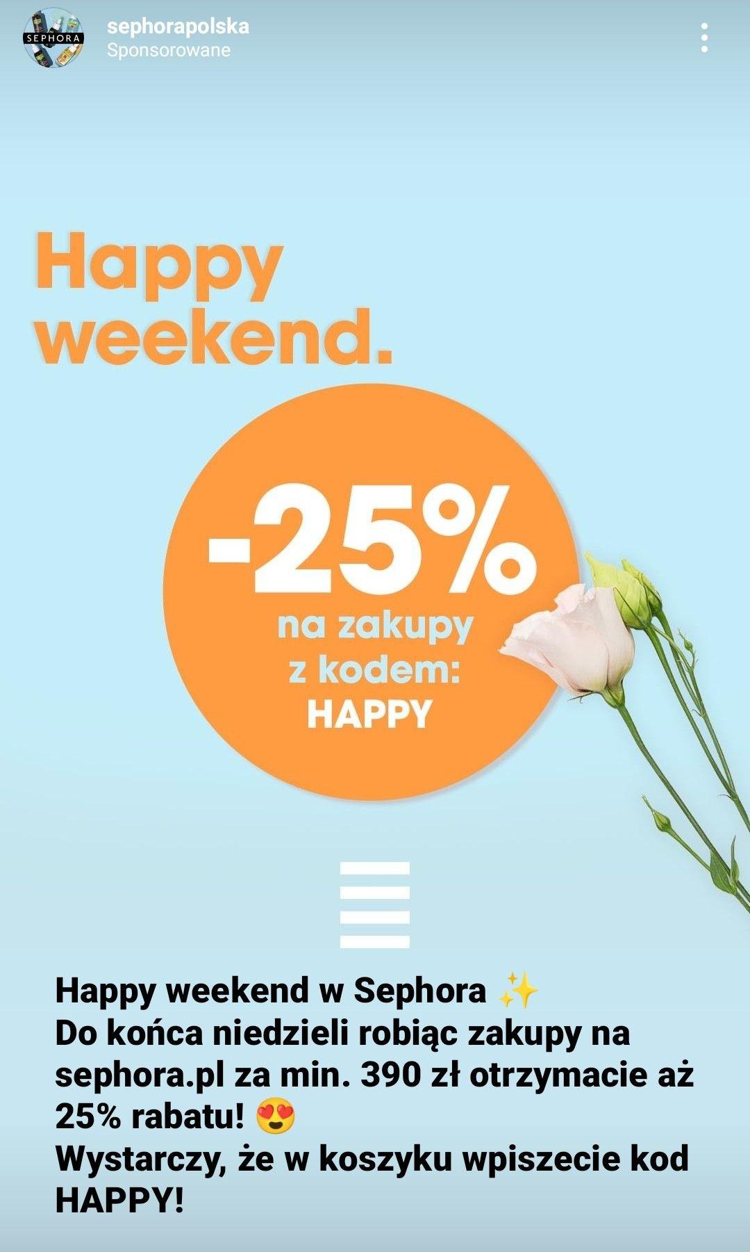-25% z kodem HAPPY przy zakupie za min 390zl