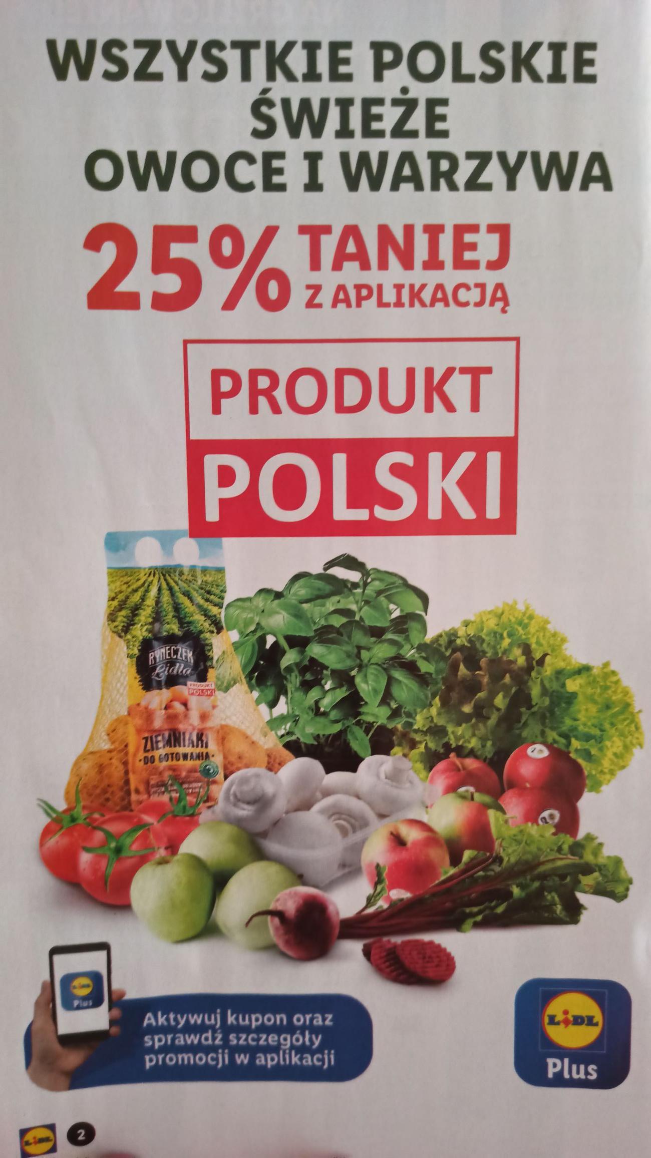 Polskie świeże warzywa i owoce -25%