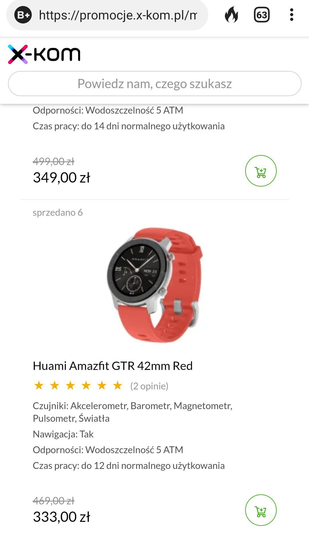 Smartwatch Huami Amazfit GTR 42mm Red