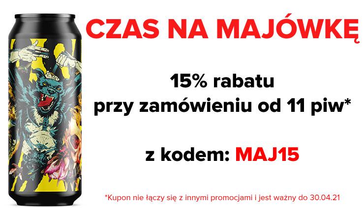 15% zniżki na kraftowe piwo przy zakupie 11 sztuk