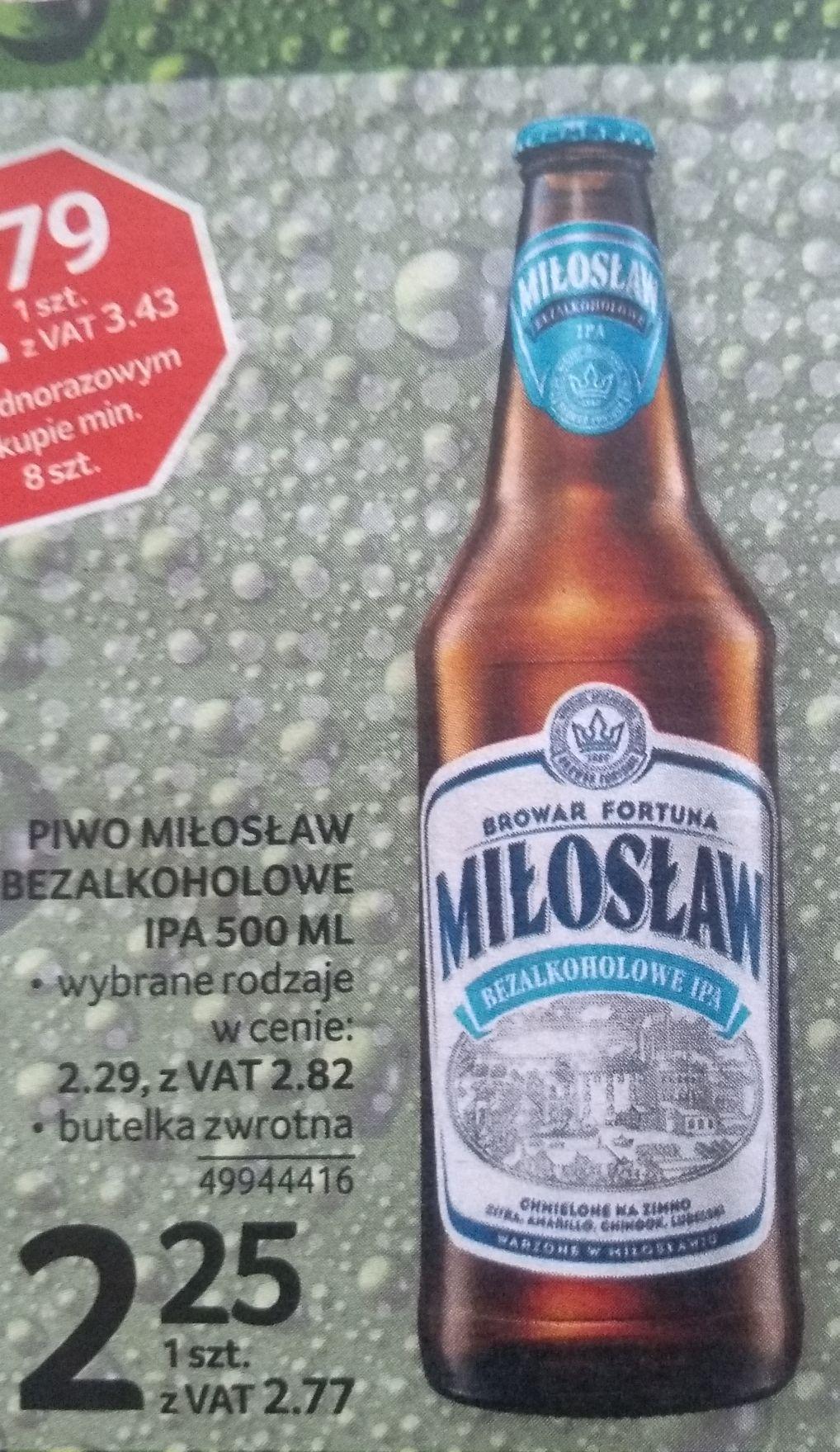 Piwo Miłosław Bezalkoholowe IPA 500ml. Selgros