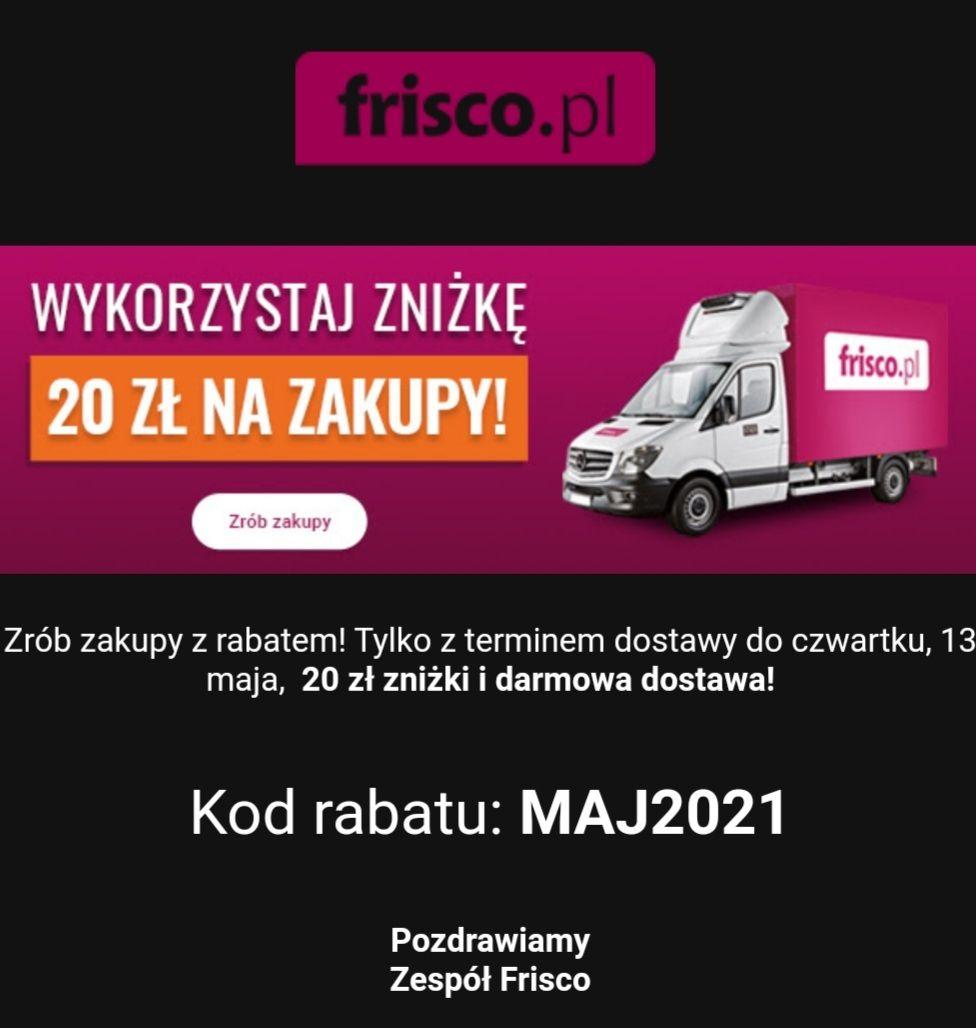 Ponownie Frisco darmowa dostawa i 20 zł rabatu MWZ 100 zł