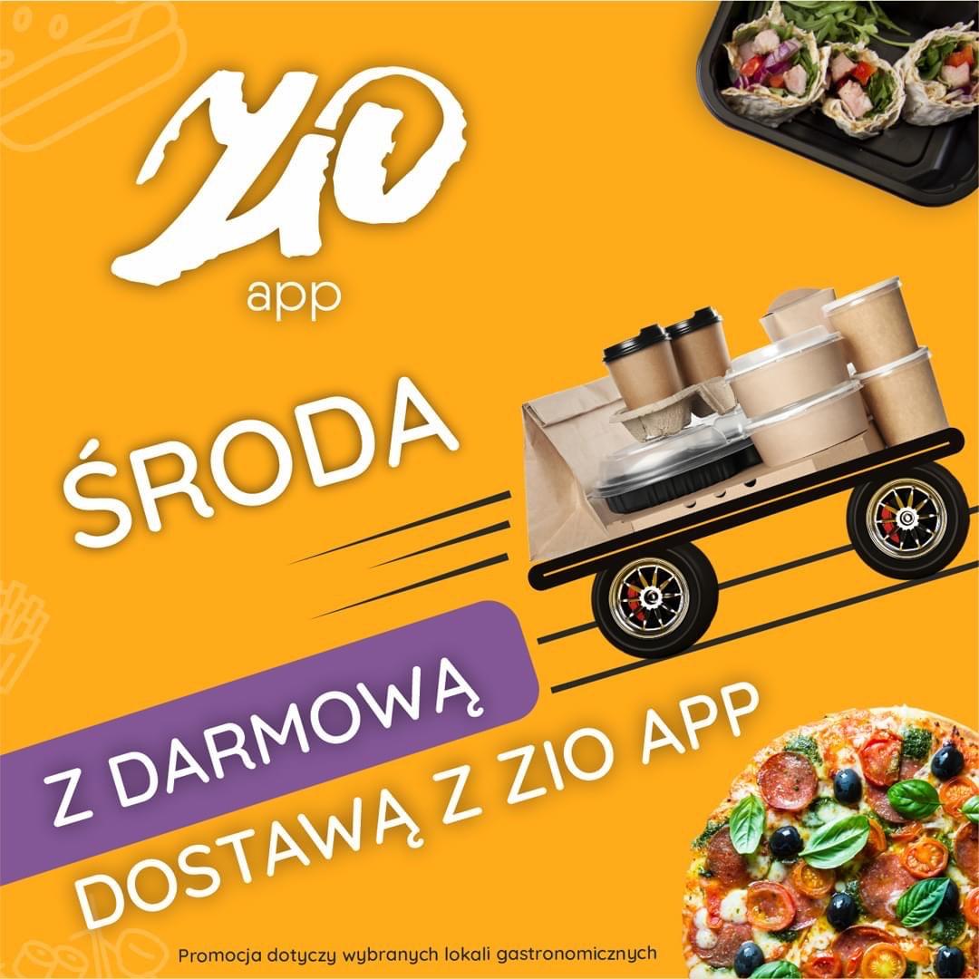 Poznań darmowa dostawa jedzonka z ZiO app!