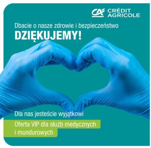 Credit Agricole - oferta dla służb medycznych i mundurowych / konto VIP za darmo