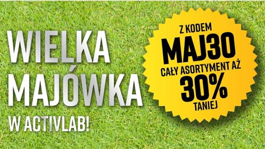 Cały asortyment -30%! Wielka Majówka w ACTIVLAB, activlab.pl
