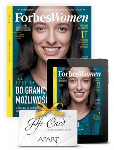 Półtoraroczna prenumerata Forbes Women +100 zł do APART + e-prenumerata