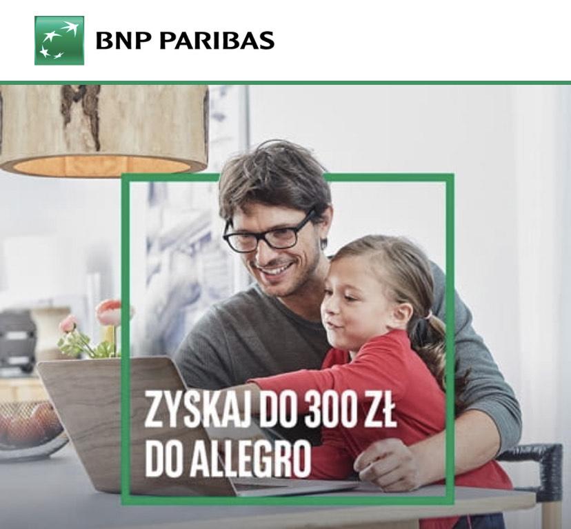 Karta kredytowa BNP Paribas i 300zl na Allegro