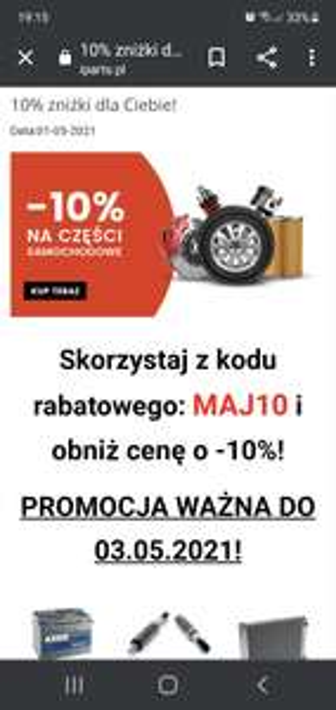 Rabat 10% na cały asortyment w iparts