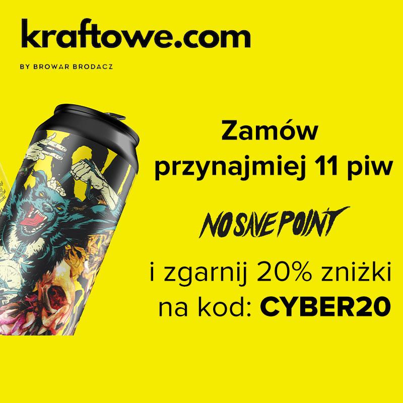 20% zniżki na piwo No Save Point - Uwarzone w kooperacji z CDProjekt