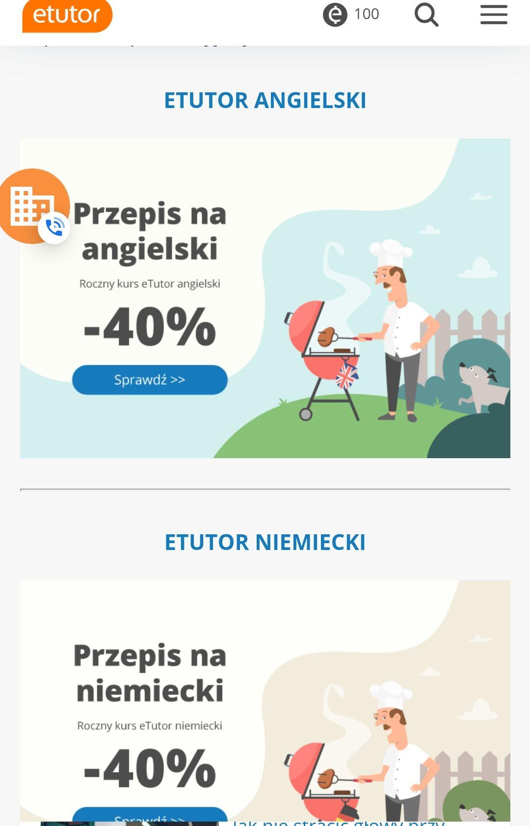 eTutor, kursy językowe on-line: niemiecki, angielski