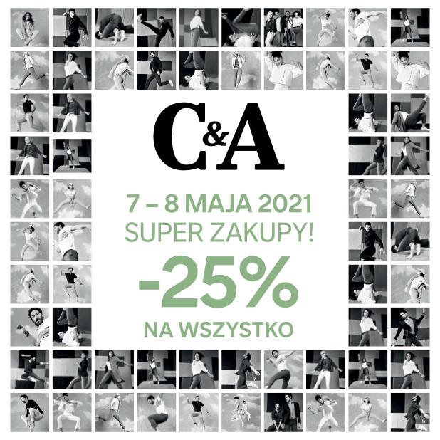 -25% w sklepach stacjonarnych C&A (7-8 maja)