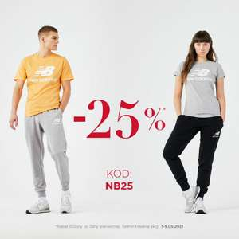 -25% na nieprzecenione rzeczy w New Balance