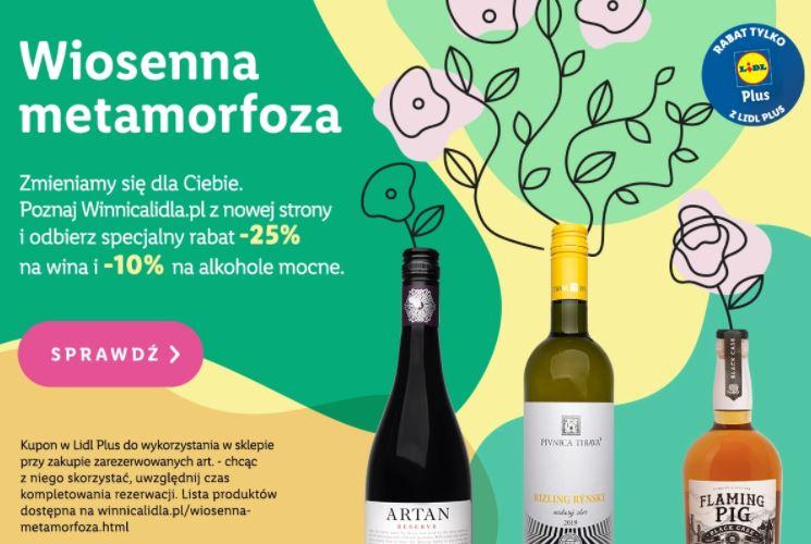 -25% na wina w Winnicy Lidla