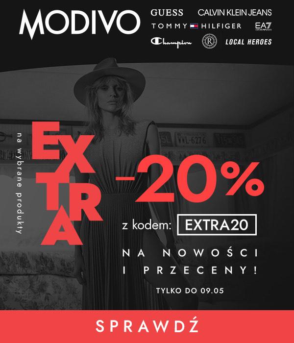 Dodatkowe -20% na wybrane nowości i przeceny, online i stacjonarnie w @Modivo