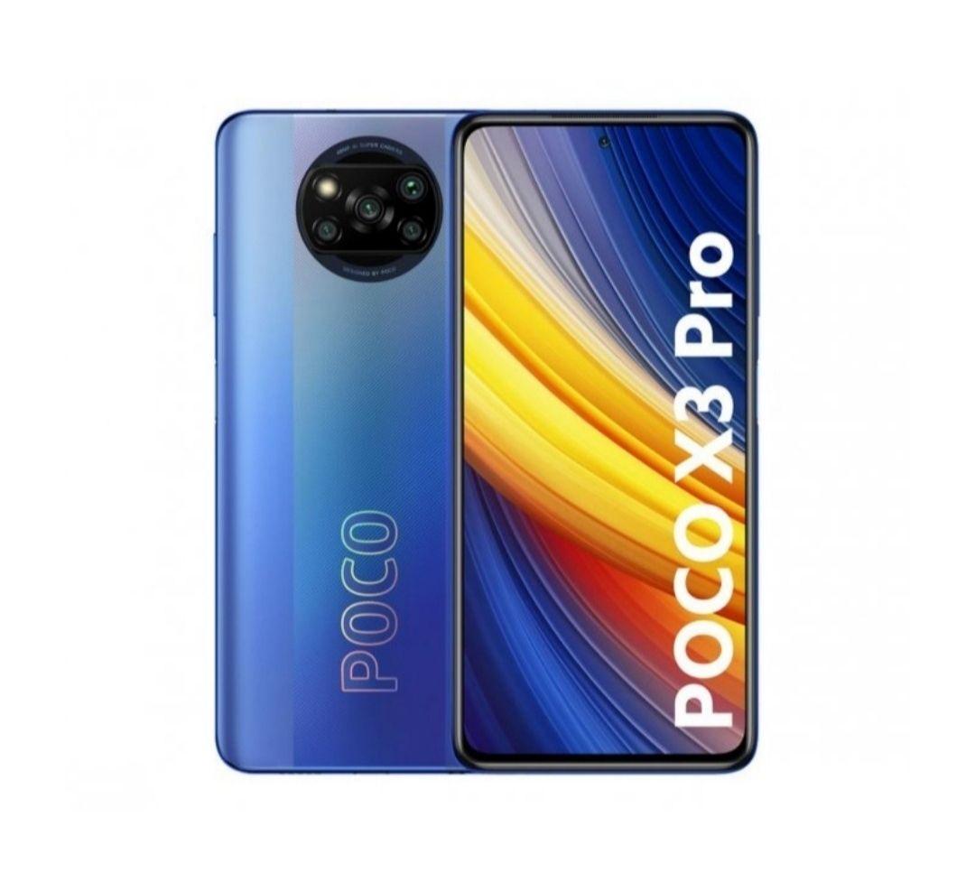 """Smartfon POCO X3 Pro 8/256GB FHD+ 6.67"""" SD860 5160 mAh 33W NFC Niebieski (Frost Blue)"""