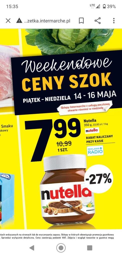 Nutella 350g /Intermarche/