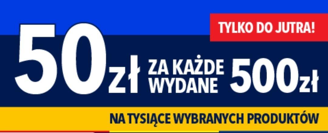 -50zł/500zł wydanych w RTV EURO AGD, raty 30x0%, 1. rata gratis