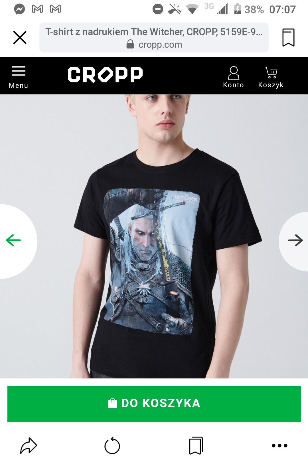 Koszulka Wiedzmin męska wszystkie rozmiary