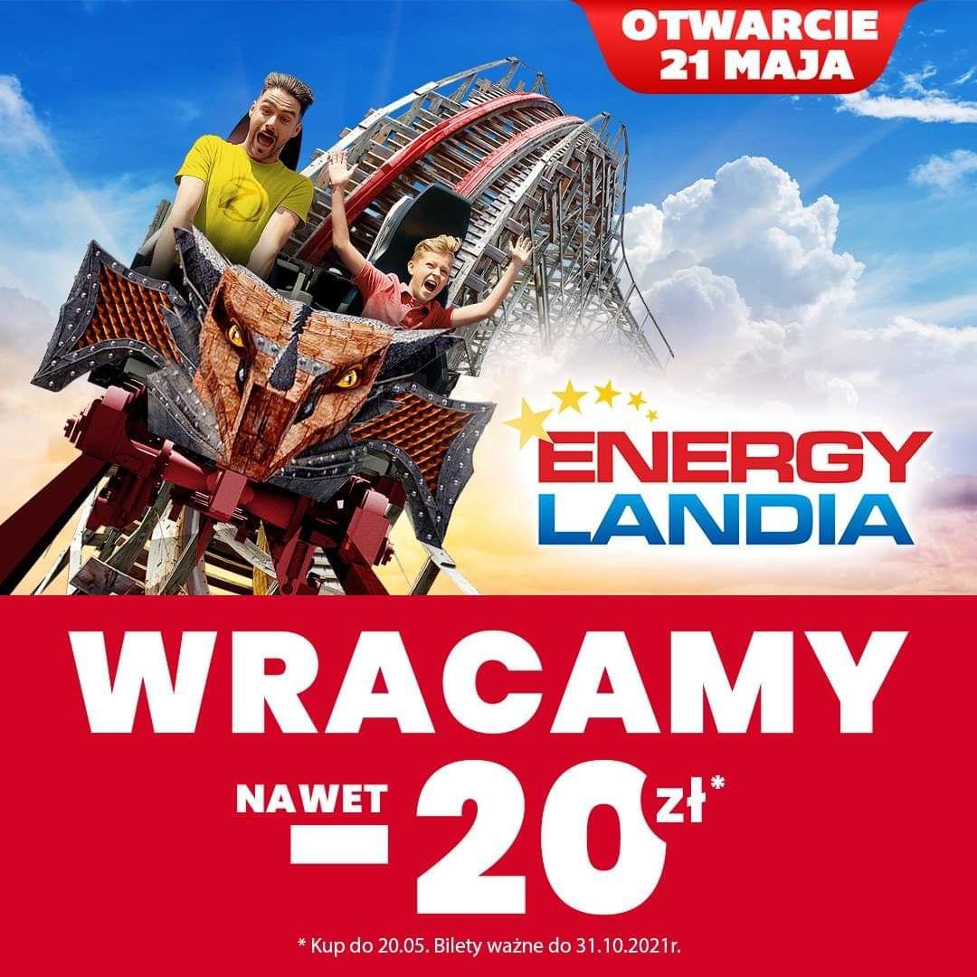 Energyladnia -20 zł na bilet | Otwarcie 21.05 - Bilet ważny do 31.10