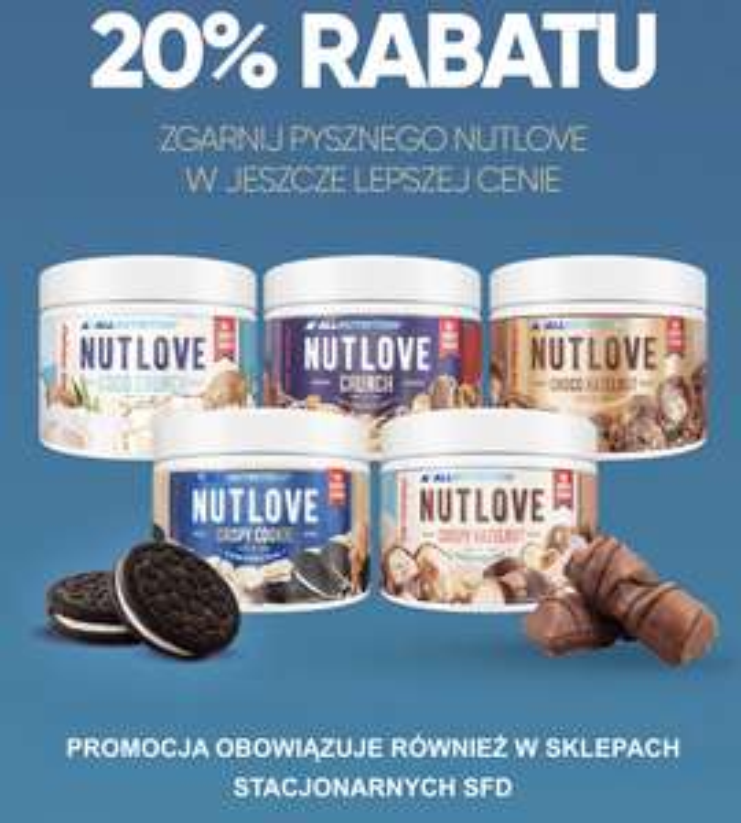 SFD Allnutrition Nutlove - smaczne kremy o różnych smakach -20%