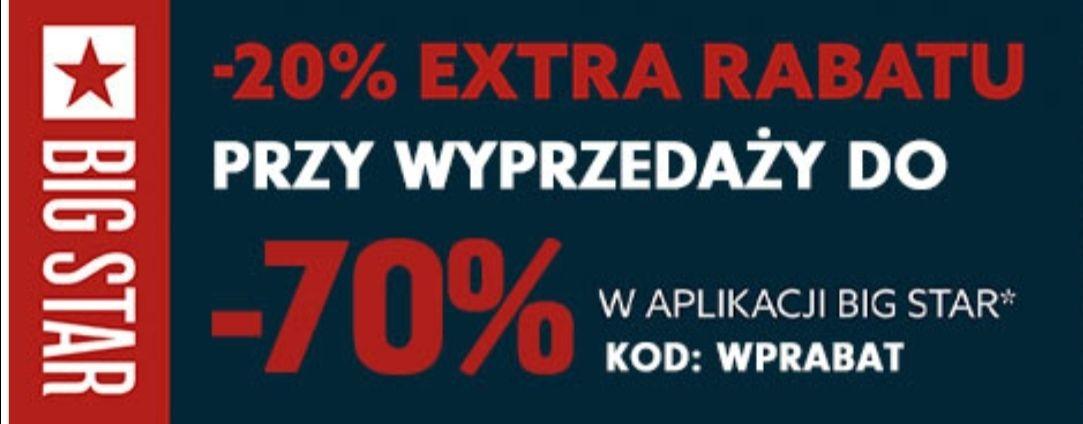-20% extra rabatu na wyprzedaż bez MWZ w aplikacji Big Star