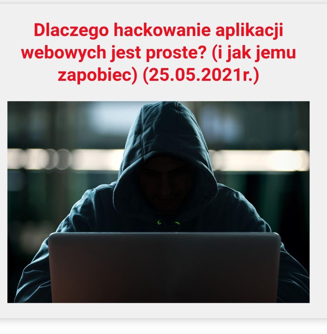 Szkolenie z bezpieczeństwa aplikacji webowych - Sekurak + Darmowy certyfikat DO 17 MAJA PRZEDŁUŻONE