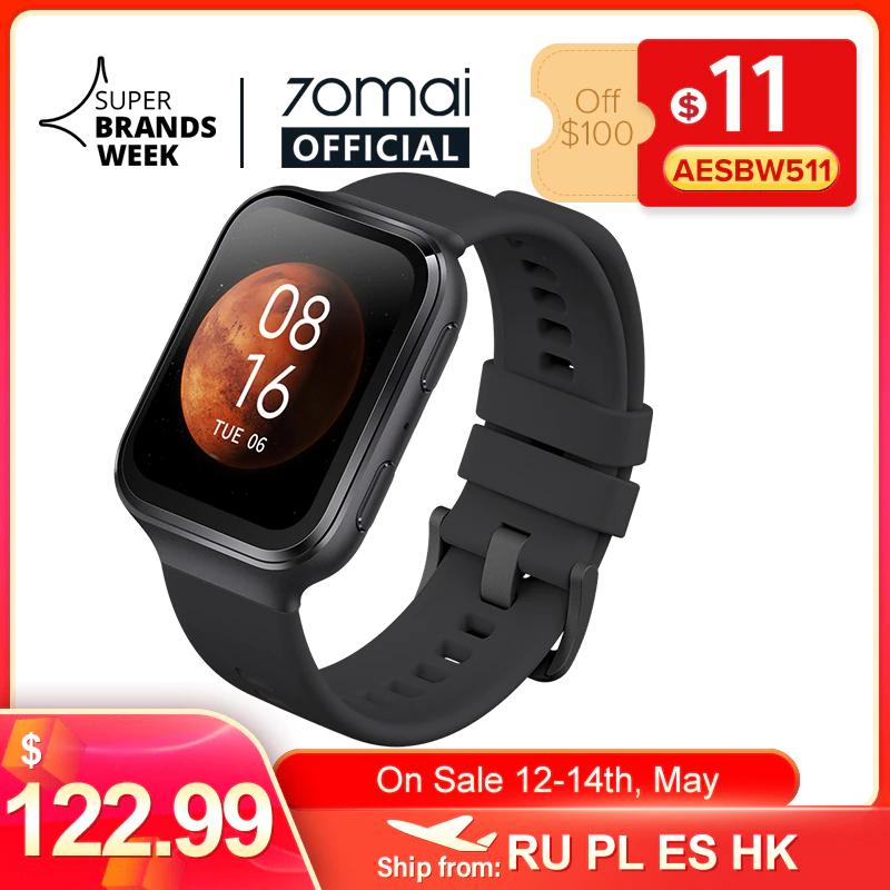 Smartwatch 70mai Saphir (GPS, 5ATM, AMOLED) z Polski @ Aliexpress