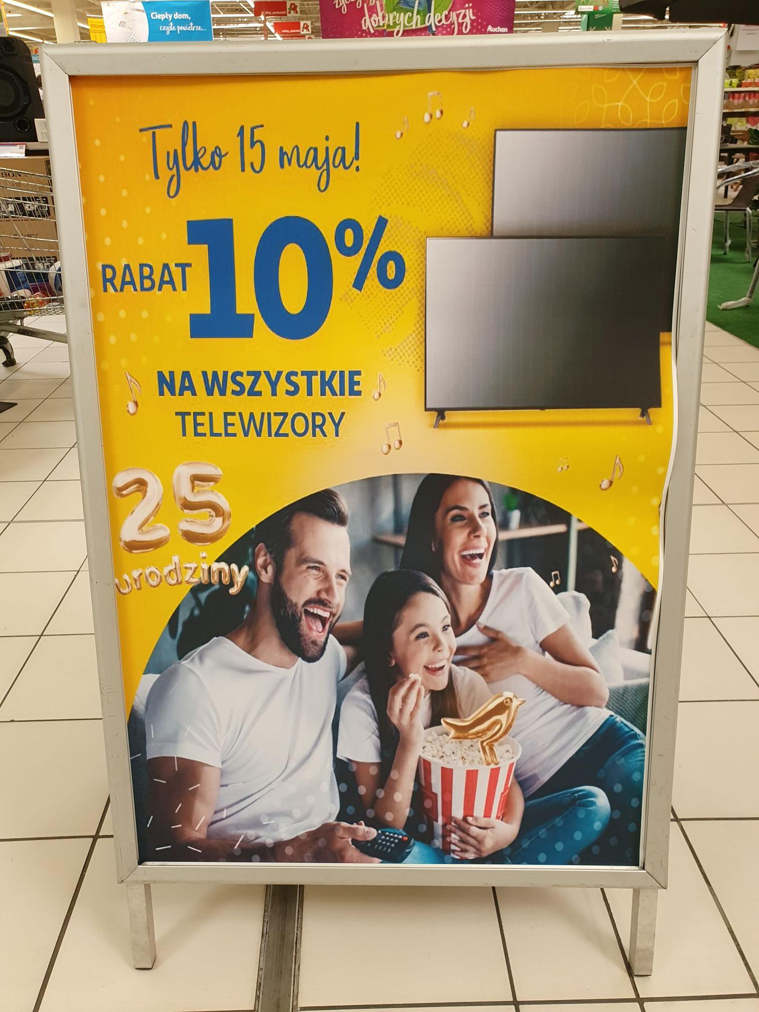 Auchan rabat 10% na wszystkie telewizory