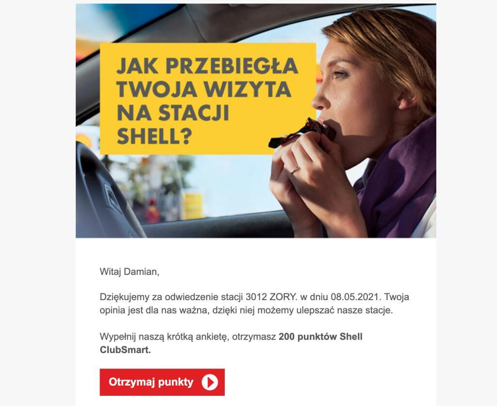 Wypełnij ankietę i zyskaj 200 dodatkowych punktów Shell ClubSmart