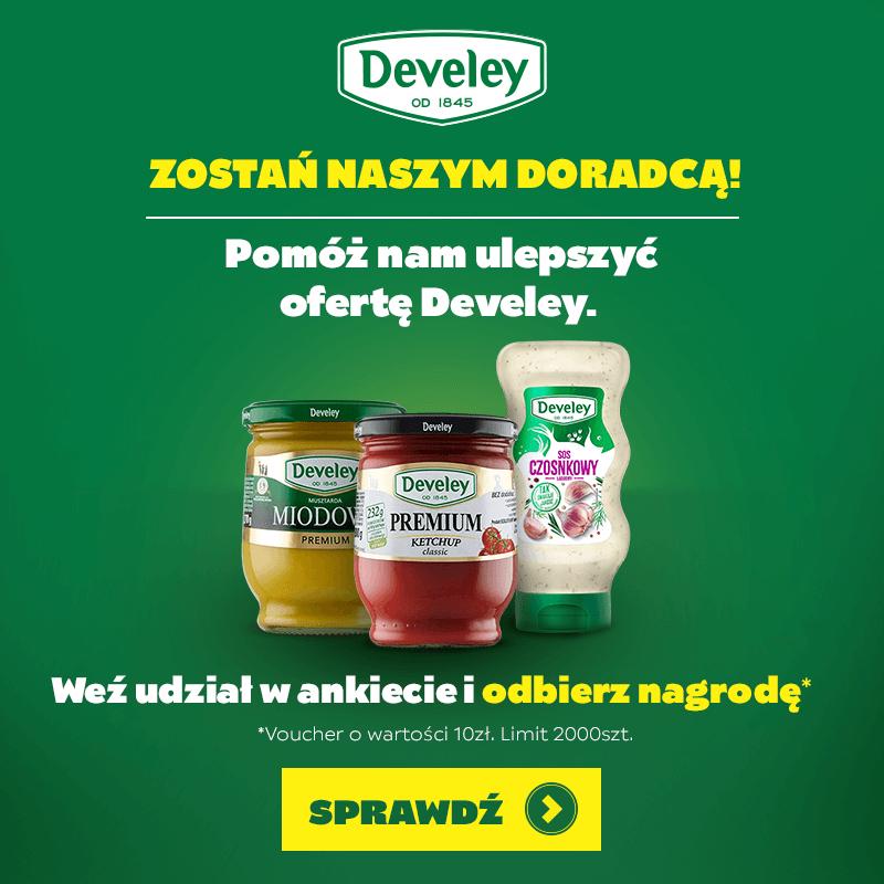 Develey, Zostań naszym Doradcą! i otrzymaj bon 10zł do sklepu develey.pl