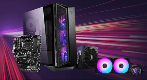 Tydzień MSI - płyty główne, obudowy, zasilacze i chłodzenia do -40% (np. MSI B450-A PRO MAX za 259zł) @ Euro