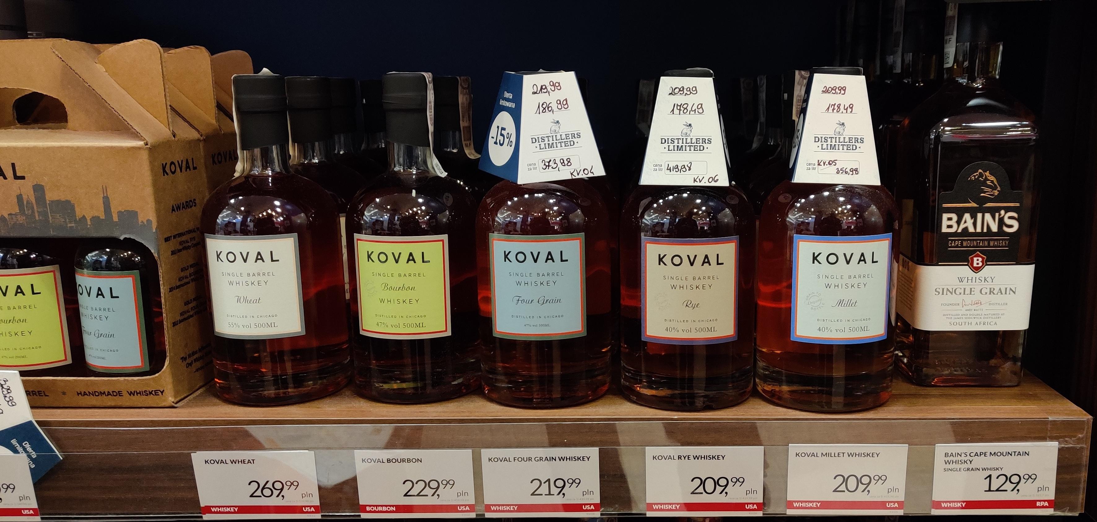 Whiskey Koval Four Grain Single Barrel 47% 0,5l Winezja/Centrum Wina