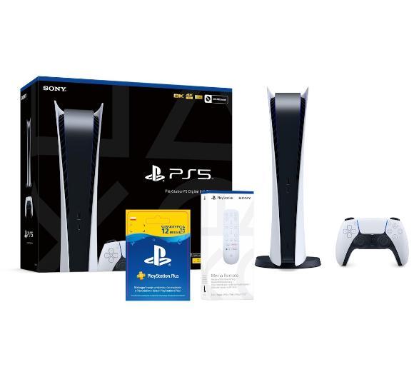 Sony PlayStation 5 Digital Edition + pilot + subskrypcja PlayStation Plus 12 m-ce