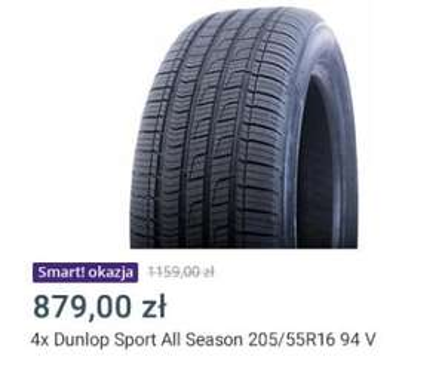 4x OPONY CAŁOROCZNE 205/55R16 94v Dunlop SPORT All Season r. 2020