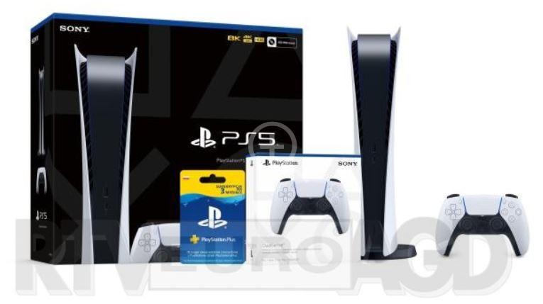 PlayStation 5 Digital Edition + subskrypcja PlayStation Plus 3 m-ce + dodatkowy pad @ RTVeuroAGD