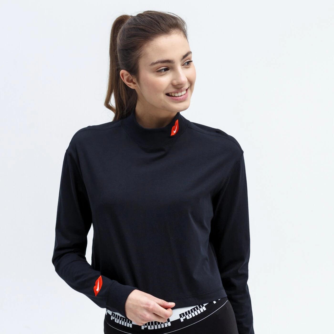 Damski T-shirt z długim rękawem i półgolfem Nike Sportswear @Zalando - M, L, XL
