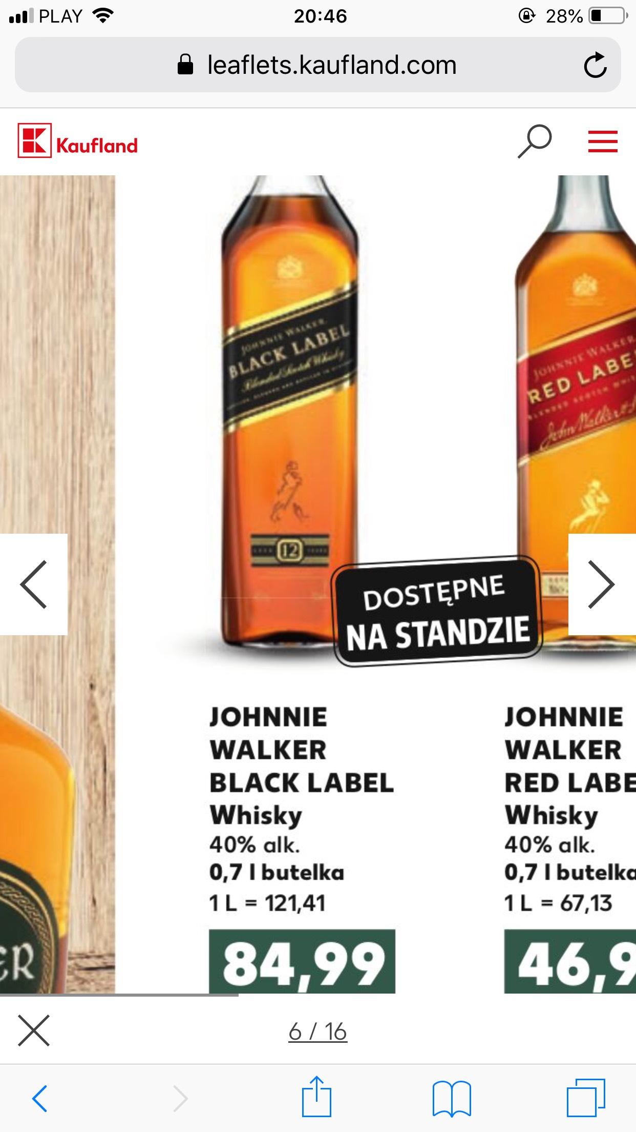 Whisky Johnie Walker Black 0,7