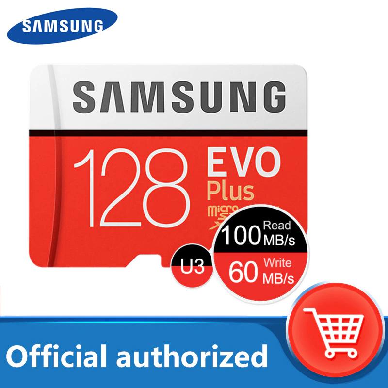 Karta SAMSUNG Micro SD 128GB EVO Plus + adapter + czytnik USB 12.64$