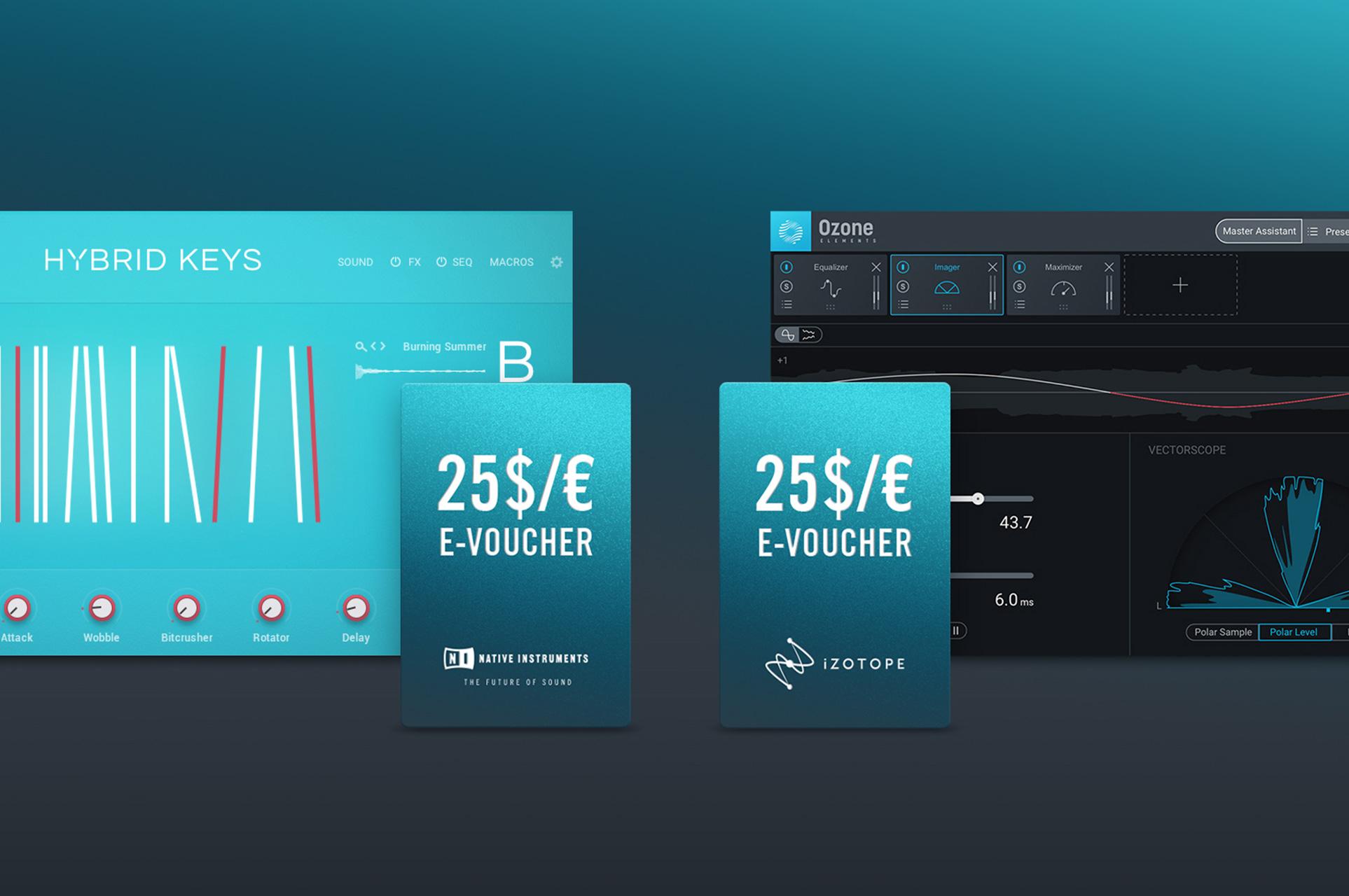 Native Instruments HYBRID KEYS + iZotope Ozone Elements za free (+voucher 25€)