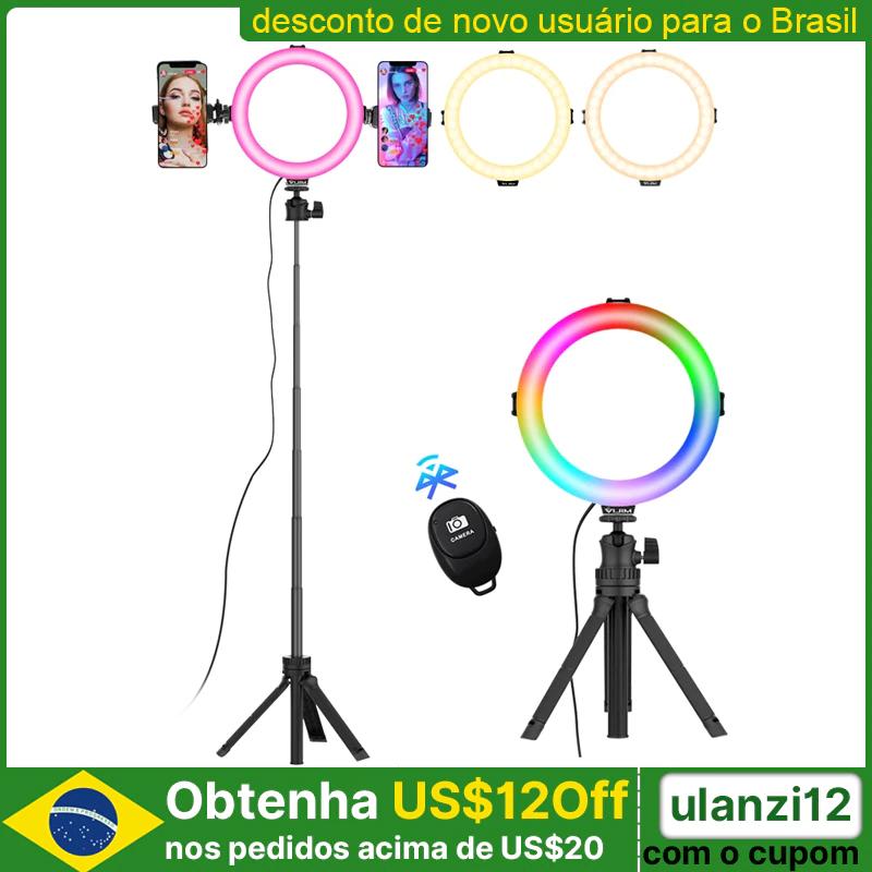 Ulanzi VIJIM K9 lampa pierścieniowa LED RGB ze statywem 3000-6500K do np. nagrań youtube za US $18.97