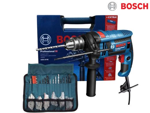 Wiertarka udarowa Bosch GSB 16 RE Professional   750 W   100 akcesoriów