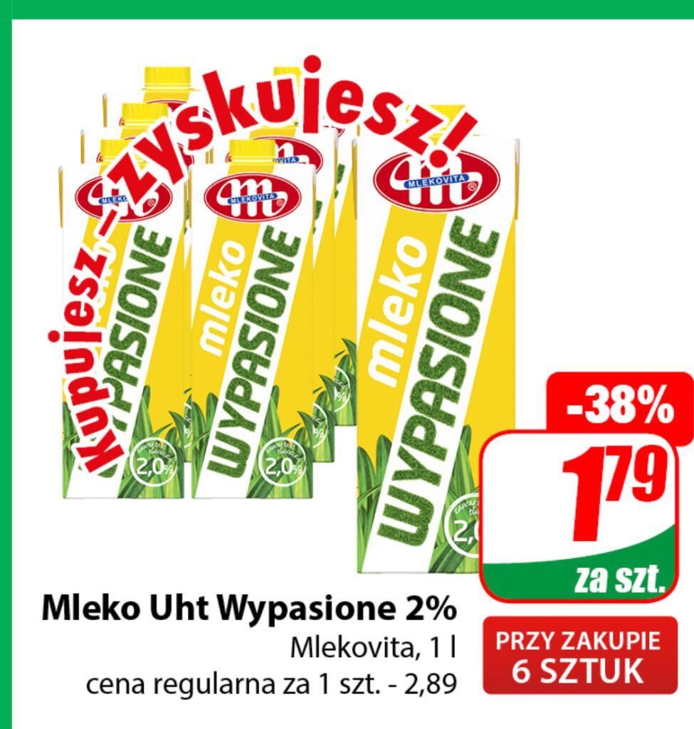 Mleko UHT Wypasione 2% Mlekowita 1L przy zakupie 6 szt. /Dino/
