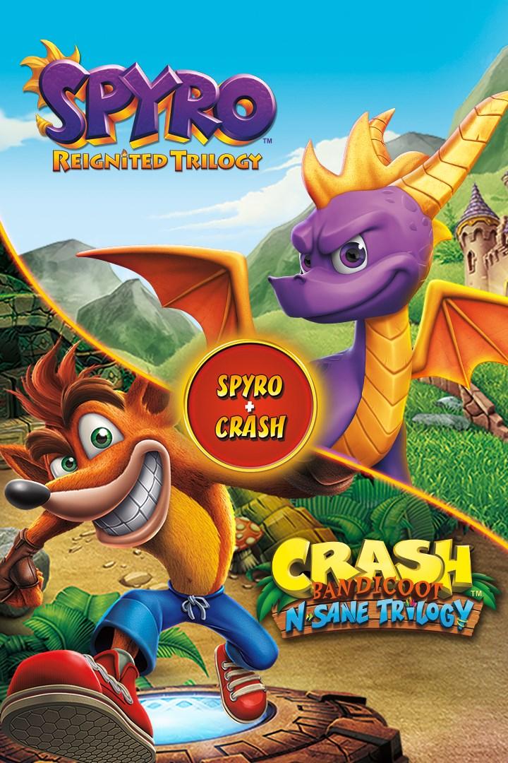 Spyro + Crash Bundle na PS4/PS5