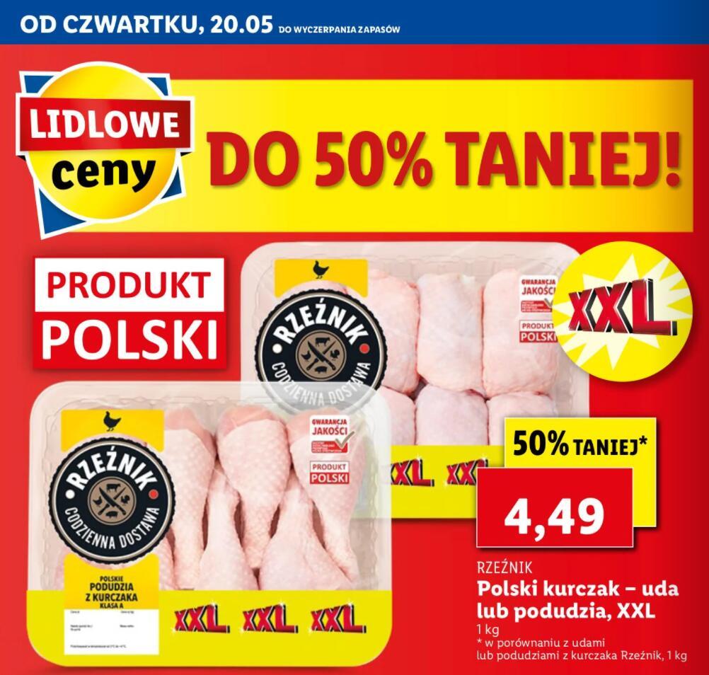 Polski kurczak - uda lub podudzia XXXL - Lidl