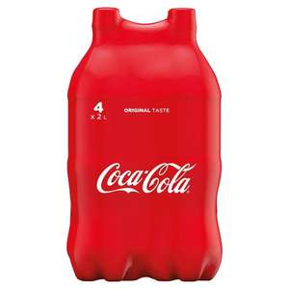 Coca-Cola 4x2L , 4,25zł/butelkę