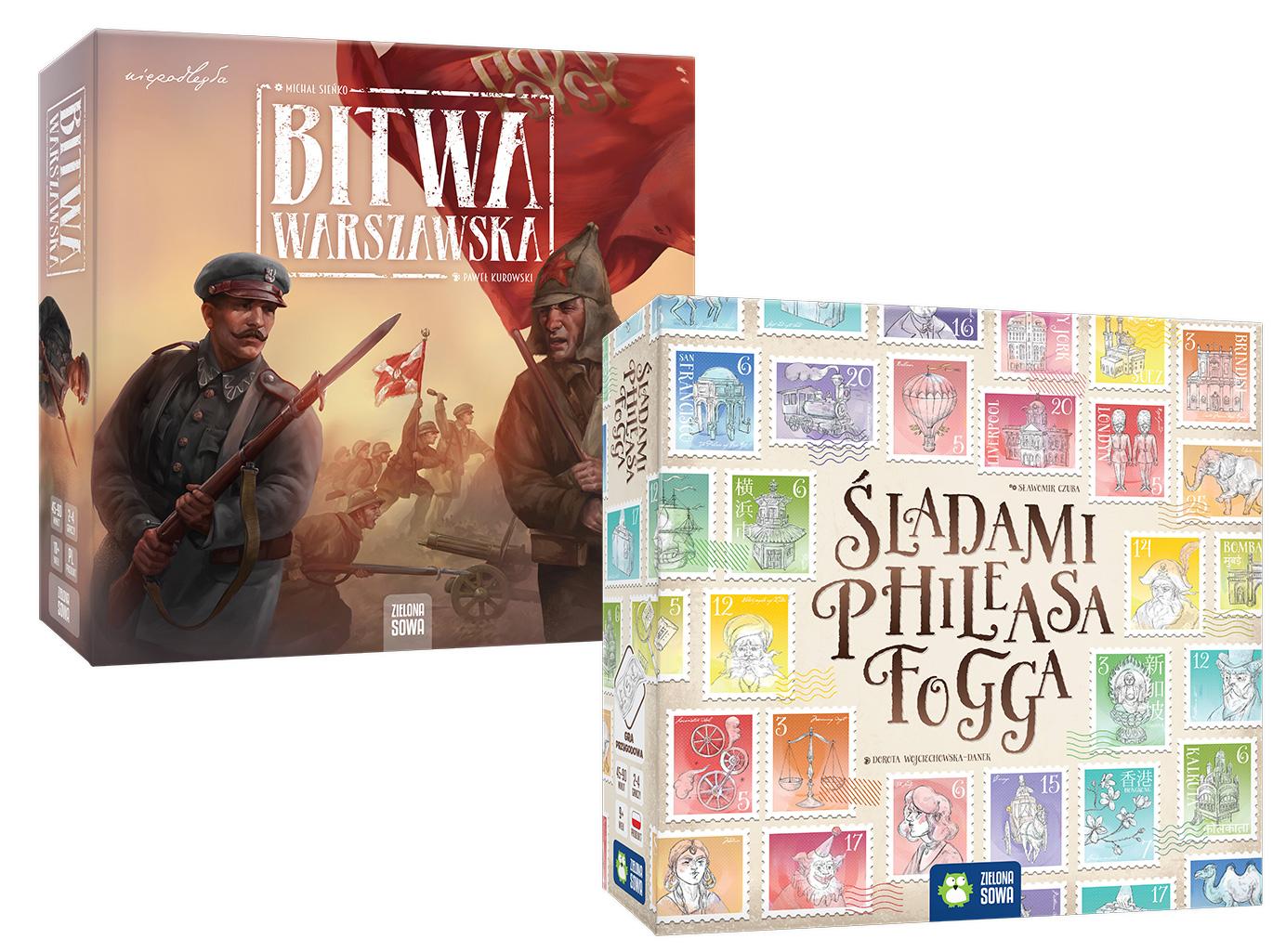 Pakiet dwóch gier Bitwa Warszawska i Śladami Phileasa Fogga