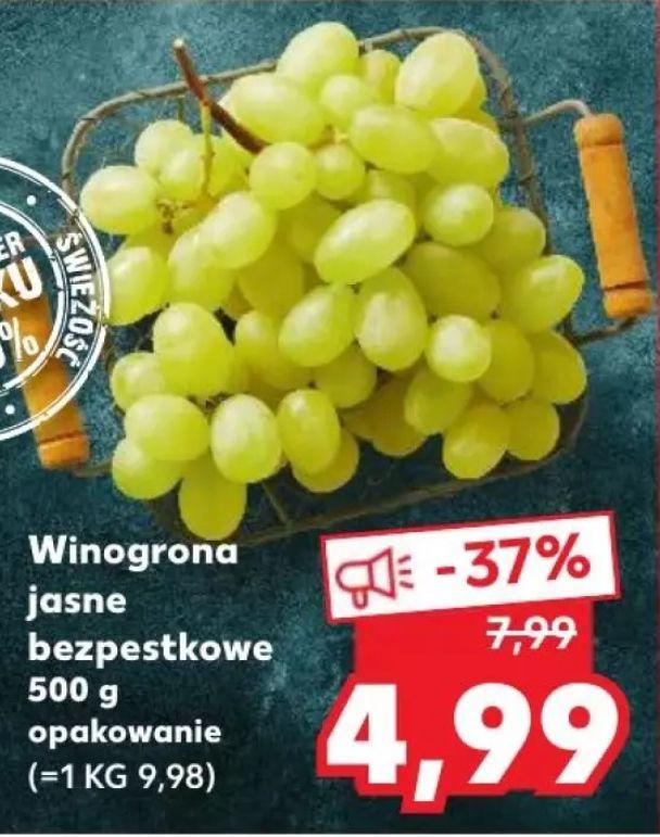 Winogrono jasne bezpestkowe 4,99zl/0.5kg @Kaufland